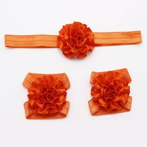 Other - NEW baby girl 3 piece headband & barefoot sandals
